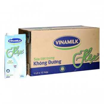 Sữa Tiệt Trùng Vinamilk Không Đường Flex, Hộp 1 Lít
