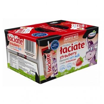 Xách Sữa tươi Ba Lan Laciate Vị dâu hộp 200ml