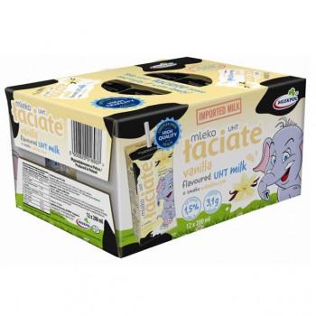Sữa tươi Ba Lan Laciate hương vani hộp 200ml