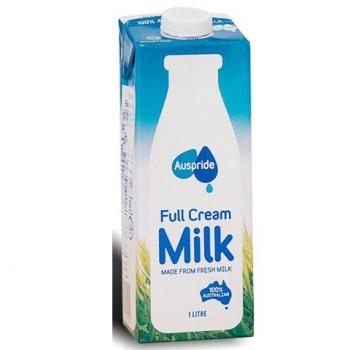 Thùng sữa tươi nguyên kem Auspride Úc hộp 1L