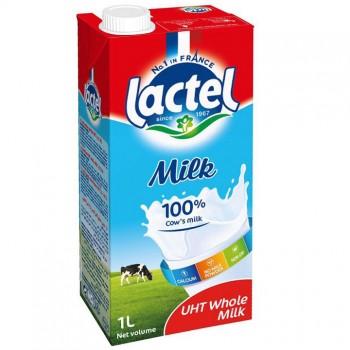 Sữa tươi nguyên kem Lactel Pháp hộp 1 litre