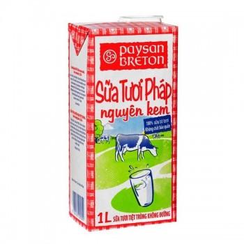 Sữa tươi nguyên kem Pháp Paysan Breton hộp 1L