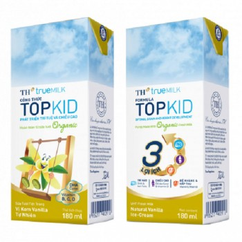 Sữa Tươi TH True Milk TOPKID Organic, 180ml.