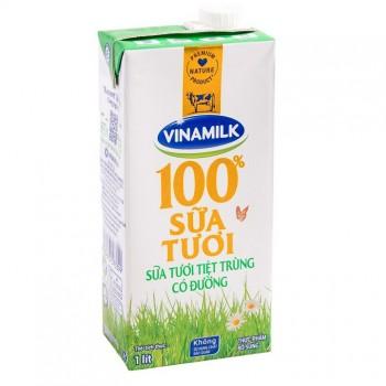 Sữa tươi tiệt trùng có đường Vinamilk hộp 1 Lít