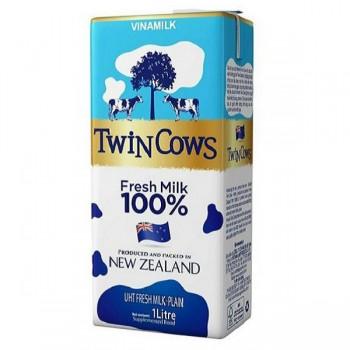 Sữa Tươi Không Đường Vinamilk Twin Cows 1 lít.