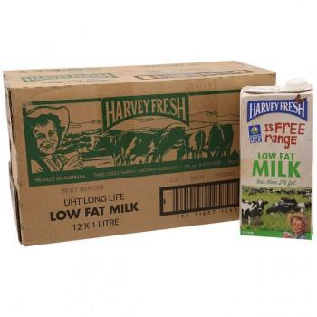 Thùng Sữa tươi  Úc ít béo Harvey Fresh Low Fat hộp 1 lít
