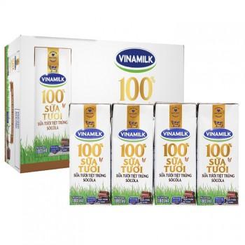 Sữa tươi tiệt trùng Vinamilk Socola hộp 180ml