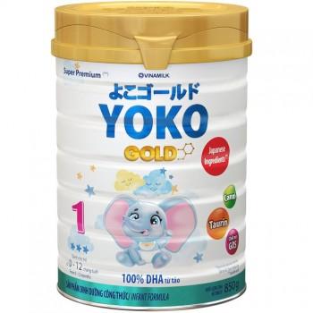 Sữa Yoko Gold số 1 cho trẻ 0-12 tháng tuổi lon 850g