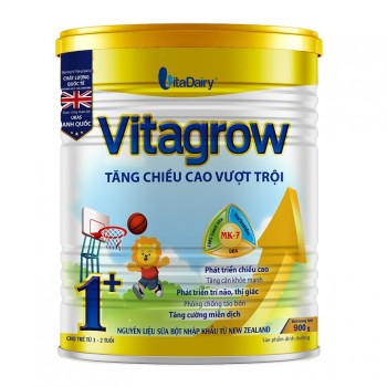 Sữa Vitagrow Tăng Chiều Cao Cho Trẻ Từ 1-2 tuổi, lon 900g
