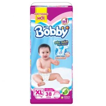 Tã dán Bobby siêu thấm XL 38 miếng, trẻ 12-17kg