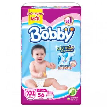 Tã dán Bobby siêu thấm XXL 56 miếng, trẻ > 16 kg