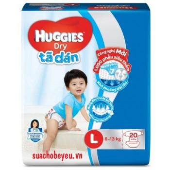 Tã dán Huggies Dry size L 20 miếng cho trẻ 8-13kg