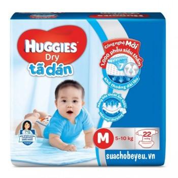 Tã dán Huggies Dry size M 22 miếng cho trẻ 5-10kg