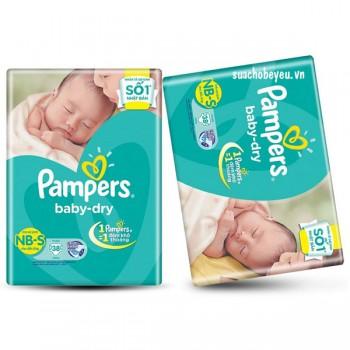 Tã Dán Pampers  Newborn - S 38 miếng, trẻ 3-8kg
