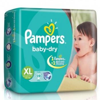 Tã Dán Pampers size XL 28 miếng, cho trẻ >12 kg