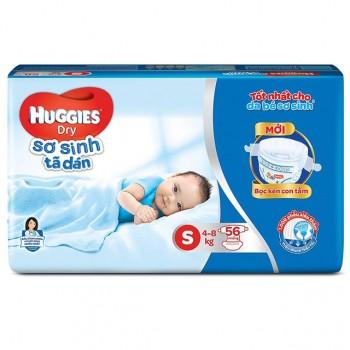 Tã dán sơ sinh Huggies S 56 miếng cho trẻ 4-8kg