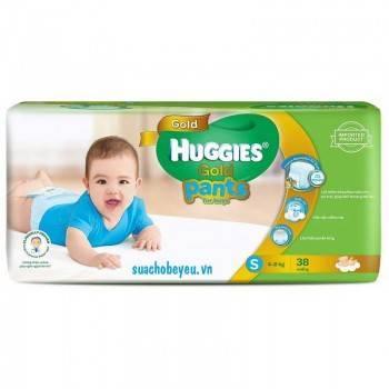 Tã quần Huggies Gold bé trai size S 38 miếng, 4-8kg
