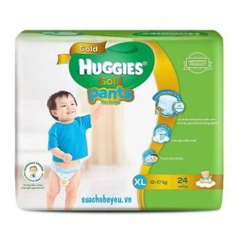 Tã quần Huggies Gold bé trai XL 24 miếng, 12-17kg