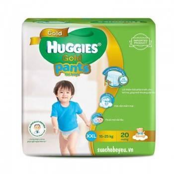 Tã quần Huggies Gold trai XXL 20 miếng, 15-25kg