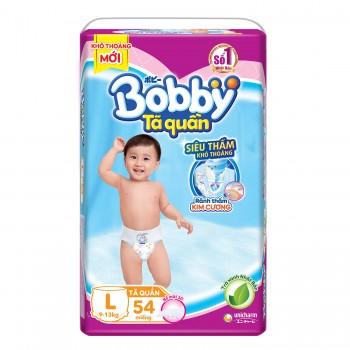 Tã quần Bobby size L 54 miếng, cho trẻ 9-13 kg