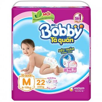 Tã quần Bobby size M 22 miếng cho trẻ 6-10kg