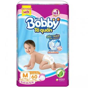 Tã quần Bobby size M 60 miếng cho trẻ 6-10kg