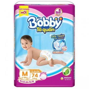 Tã quần Bobby size M 74 miếng cho trẻ 6-10kg