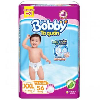 Tã quần Bobby size XXL 56 miếng, cho trẻ >16kg