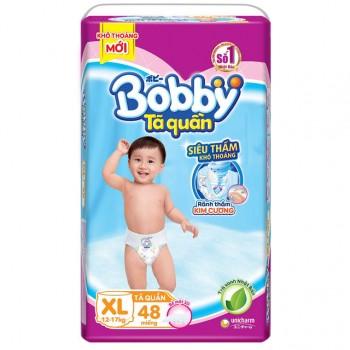 Tã quần Bobby size XL 48 miếng, cho trẻ 12-17kg