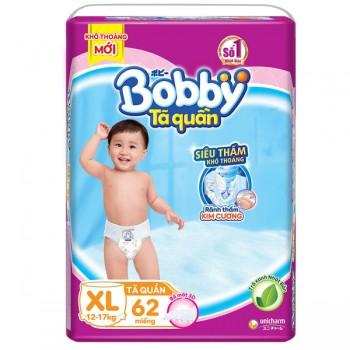 Tã quần Bobby size XL 62 miếng, cho trẻ 12-17kg