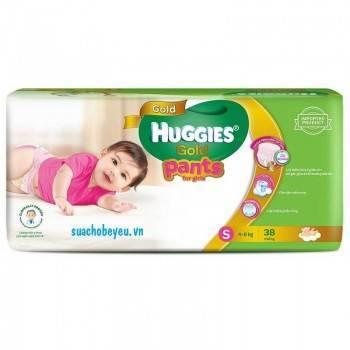Tã quần Huggies Gold bé gái size S 38 miếng, 4-8kg