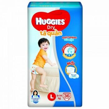 Tã quần Huggies Dry size L 36 miếng trẻ 9-14kg
