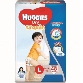 Tã quần Huggies Dry size L 48 miếng trẻ 9-14kg