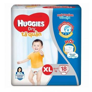 Tã quần Huggies Dry size XL 18 miếng trẻ 12-17kg