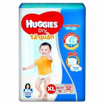 Tã quần Huggies size XL 32 miếng trẻ 12-17kg