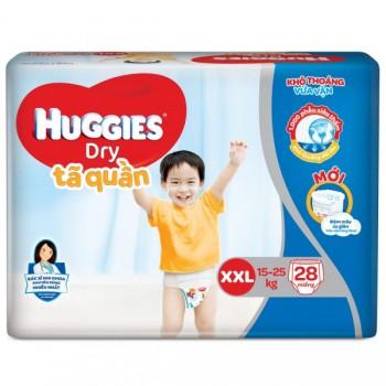 Tã quần Huggies Dry size XXL 28 miếng, 15-25kg