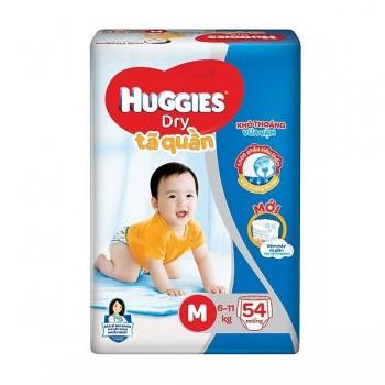 Tã quần Huggies Dry size M 54 miếng trẻ 6-11kg