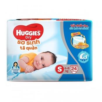 Tã quần Huggies Dry size S 24 miếng trẻ 4-8kg