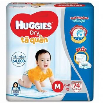 Tã quần Huggies Dry size M74 miếng trẻ 6-11kg