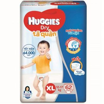 Tã quần Huggies size XL 62 miếng, 12-17kg