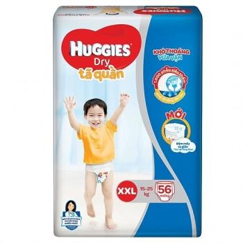 Tã quần Huggies Dry size XXL 56 miếng, 15-25kg
