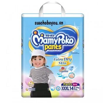 Tã quần Mamypoko XXXL-14 miếng bé gái 18-35kg