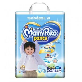 Tã quần Mamypoko XXXL-14 miếng bé trai 18-35kg