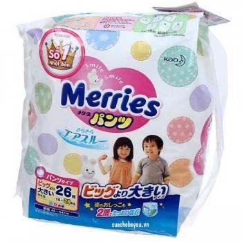 Tã Quần Merries nhập khẩu size XXL 26, 15-28kg