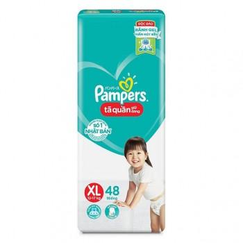 Tã quần Pampers Giữ Dáng size XL48 miếng, 12-17 kg