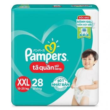 Tã quần Pampers size XXL 28 miếng, cho trẻ 15-25kg