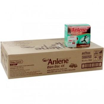 Thùng sữa nước  Anlene đậm đặc Socola 48 x110ml