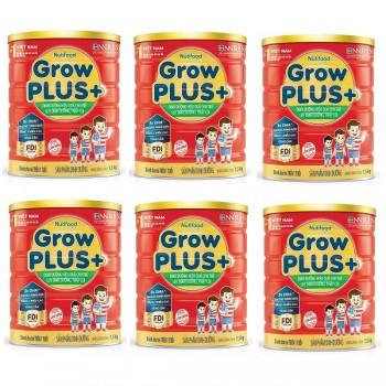 Thùng sữa bột Nuti Grow Plus + Đỏ, 1.5kg, >1 tuổi