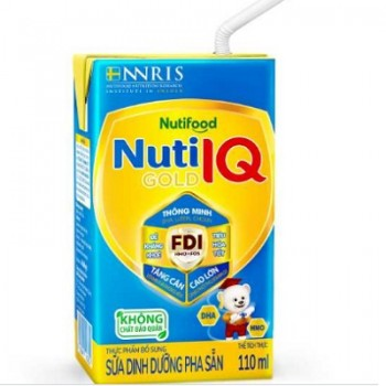Sữa bột pha sẵn Nuti IQ Gold, 110ml, trên 1 tuổi