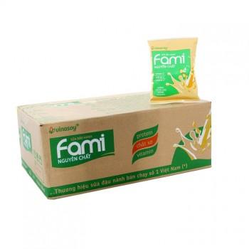 Sữa đậu nành nguyên chất Fami 200ml x 40 bịch